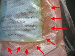 固定シート部分に漏れてきても汚れません。